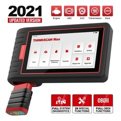 THINKSCAN MAX Professional Car VIN Auto Scanner All System Active Test ECU Coding 28 Reset OBD2 Code Reader PK Launch crp909e