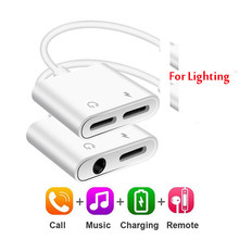 2 In 1 Audio Adapter Opladen Oortelefoon Kabel Voor Iphone 11X7 8 Plus Aux Jack Headset Voor Verlichting 3.5 Mm Te Hoofdtelefoon Splitter(China)
