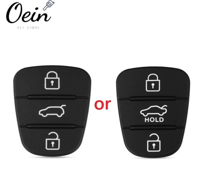 Afstandsbediening Autosleutel 3 Knoppen Rubber Button Pad Voor Hyundai Solaris Accent Tucson L10 L20 L30 Kia Rio Ceed Flip auto Autosleutel Shell|Auto Sleutel|   - AliExpress