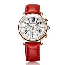 MEGIR Womens watch retro multi-function timing trend fashion waterproof quartz 2058