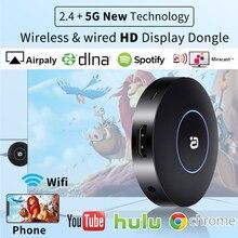 4K H.265 2.4/5G sans fil WiFi affichage Dongle récepteur HDMI TV Stick pour AnyCast Airplay DLNA Miracast filaire moniteur même écran