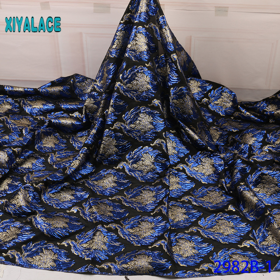 Blue Nigerian Lace Fabric 2019 High Quality Lace Brocade Lace Fabric African French Tulle Mesh Lace Fabric For Party YA2982B-1