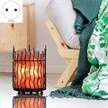 Европейский кованый контейнер  соляная лампа  простая настольная лампа  прикроватный ночной Светильник для спальни  офисное украшение  ште...