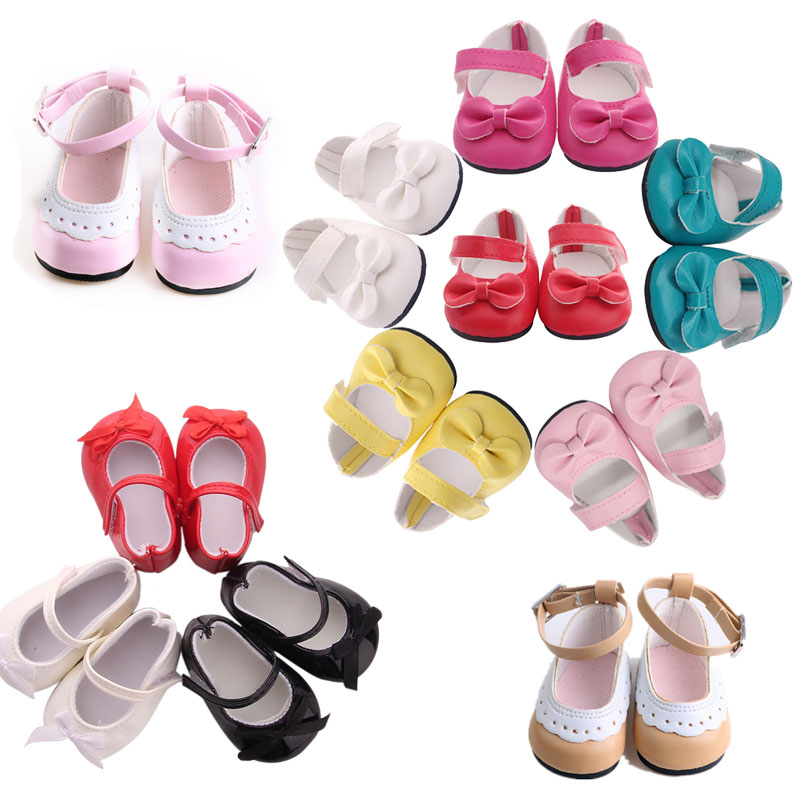 14 Styles Fashion Shoes Doll Clothes Accessories For 18 Inch American&43 Cm Born Baby Generation Christmas Birthday Girl's Gift