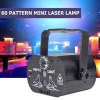 LED Laser Projektor Licht Club DJ Disco Party Bühne Licht 60 Muster-Party Dekoration hause 180 Grad Manuelle Drehung USB powered