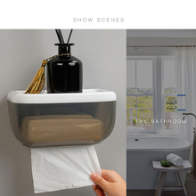 Ванная комната туалет водонепроницаемый бумажный контейнер пластиковая коробка для одноразовых салфеток бесплатно Пробивной бумажный держатель коробка для хранения полупрозрачные дизайн
