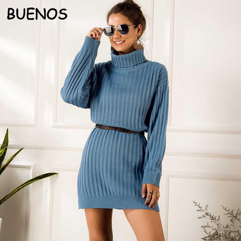 บัว elegant ถักเสื้อกันหนาวผู้หญิงฤดูใบไม้ร่วงคอเต่าหญิงสีฟ้าเสื้อสีขาวชุดเซ็กซี่เซ็กซี่สุภาพสตรีฤดูหนาว