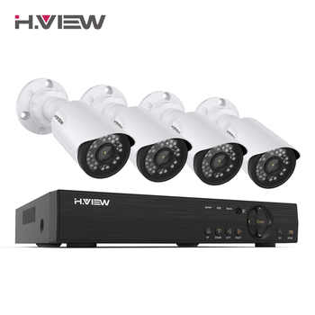 H.VIEW 8CH 1080P Video Surveillance Kit Camera Video Surveillance Outdoor CCTV Camera Security System Kit CCTV System for Home - DISCOUNT ITEM  58% OFF All Category