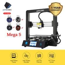 Anycubique Mega S imprimante 3D i3 méga mise à niveau complet en métal TFT écran tactile haute précision FDM 3d imprimante Kit impresora 3d drucker