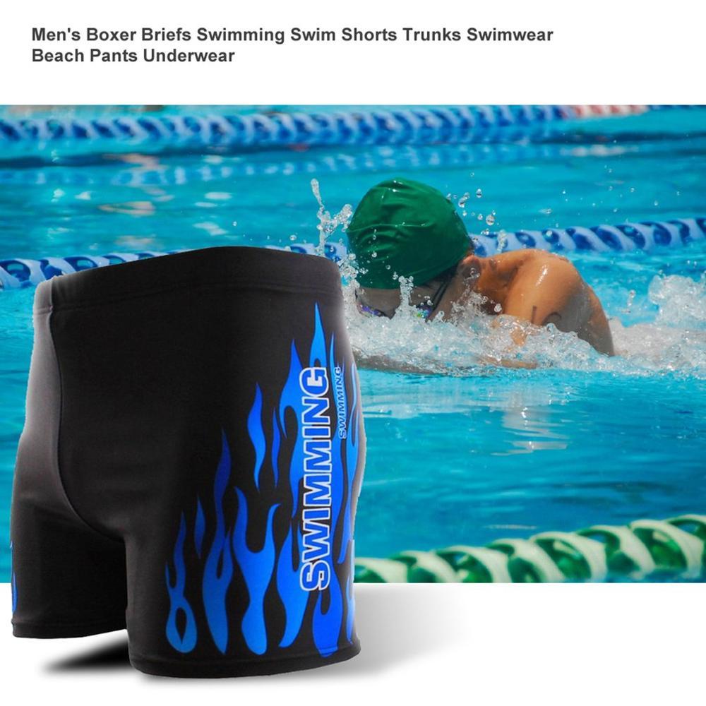 Men's Boxer Briefs Swimming Swim Shorts Trunks Swimwear Beach Pants Underwear
