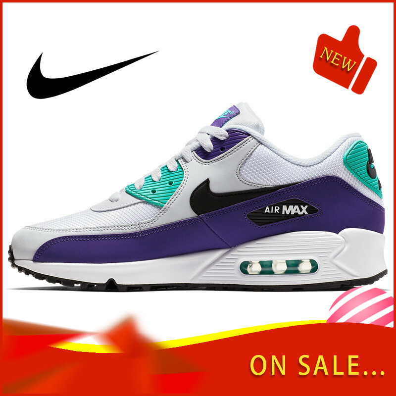 Original Authentic NIKE AIR MAX 90 Men's Running Shoes Classic Outdoor Sports Shoes Comfortable Durable Breathable 537384-064