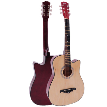 41/38 inch Acoustic Guitar for Beginners Guitar Sets with Capo Picks 6 Strings Guitar Basswood Musical Instruments AGT166 Guitar