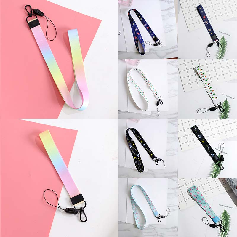 14Colors Handmade 1PC Short Long Leaf Keyring Charms Ribbons For Phone Case Wallet Car Bag Animal Cute Pattern DIY Ribbon Band