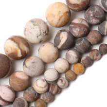 Wholesale Natural Matte Australia Zebra Jaspers Stone Beads Round Loose Beads 4 6 8 10 12 mm For Jewelry Making DIY Bracelet