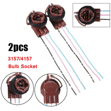 Connectors Harness Wire-Plug 3-Tabs-Socket 3156/3157-Adapter with 2--3157 4157na-Bulb
