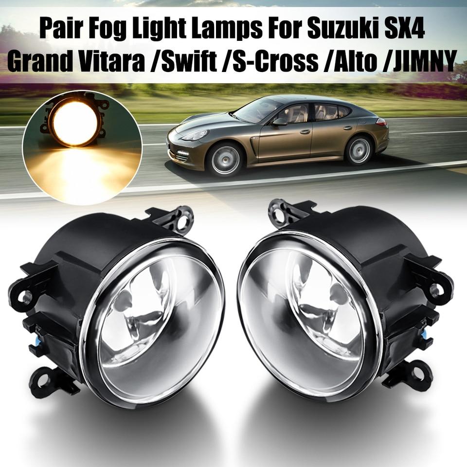 YEXIANG Front Fog Lamps LED Fog Lights w//Wiring H11 Bulbs For fit for Suzuki Grand Vitara Alto Swift Ignis Jimny Splash 1998 1999 2000-2012