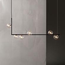 Modern Iron Glass LED Pendant Lights Lighting Indoor Decor P