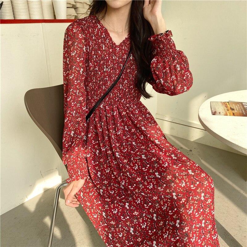 Женское шифоновое платье OCEANLOVE, шифоновое длинное платье с v-образным вырезом и высокой талией, весна 2020, 14840