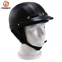 Helmet Motorcycle Harley Visor Goggles Half-Face Yamaha POSSBAY for Honda 54-60cm