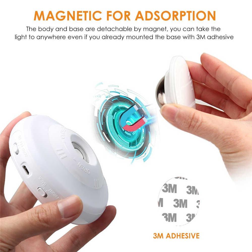 Светодиодный ночник, вращающийся на 360 градусов, перезаряжаемый Ночной светильник с датчиком движения, настенный светильник для спальни, лестницы, кухни, туалета