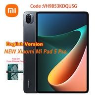 Versione inglese Xiaomi Tablet 5 Pro Mi Pad 11 pollici 2.5K LCD Snapdragon 870 6G/8G RAM 128G/256G ROM 8600mAh studio Mini PC