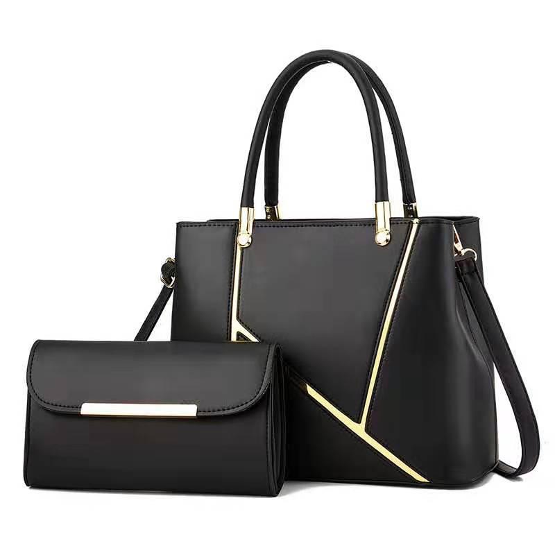 Fashion Stitching pattern PU Leather Shoulder Bags for Women Business Handbags Travel Luxury Hand Bag Female Large Shoulder Bag