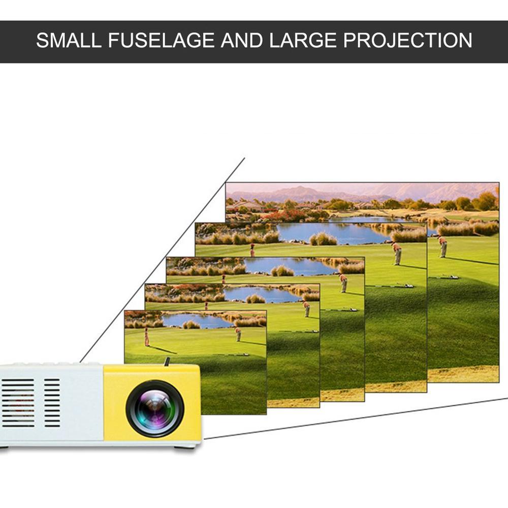 J9 mini projetor portátil suporte hdmi-compatível av usb hd 1080p vídeo media player led mini projetor de cinema em casa computador portátil-2