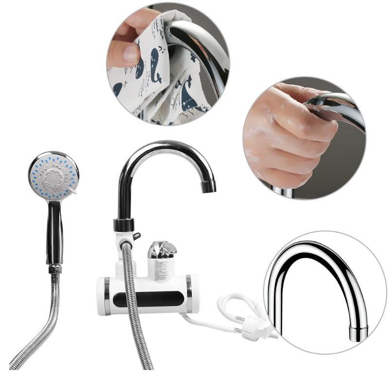 Robinet d'eau de robinet d'eau de chauffage instantané électrique d'affichage de la température 3000W - 6