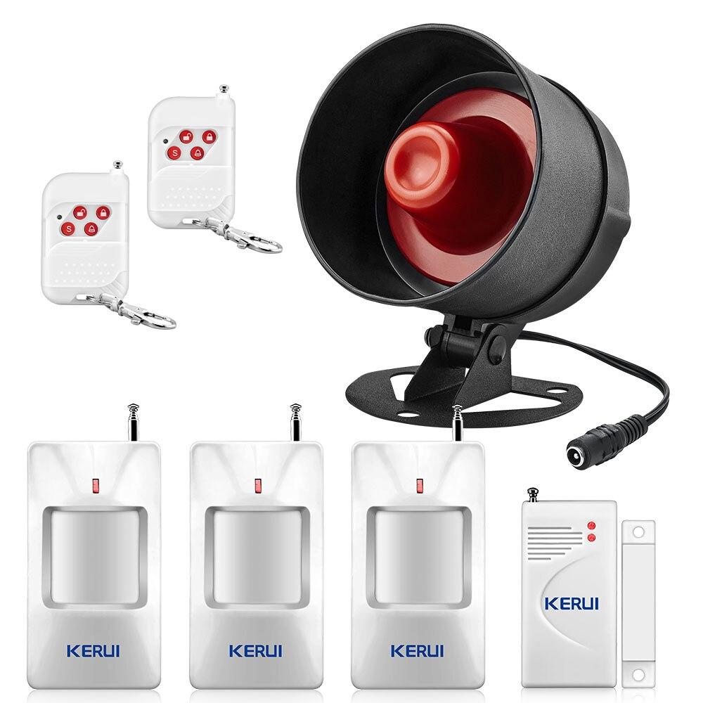 KERUI Home Motion Detektor Wireless Lokalen Alarm Lautsprecher Anti-diebstahl Alarm System Fernbedienung Einstellung Schutz Kit