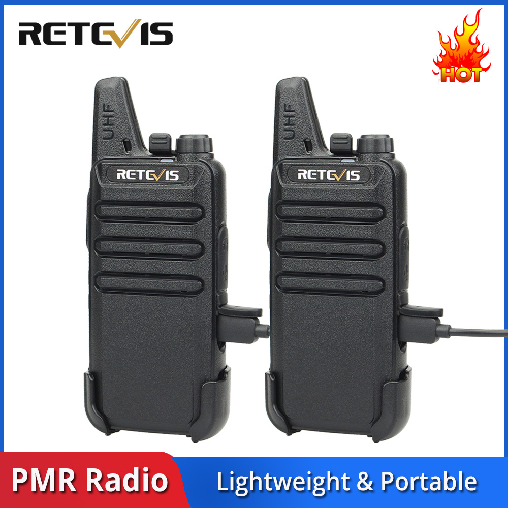 2pcs Retevis RT622 RT22 Mini Walkie Talkie PMR Radio PMR446 FRS UHF Two Way Radio Portable VOX USB Charging Handheld Transceiver
