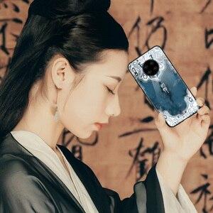 Image 2 - סיני Vintage ארמון סגנון מקרה עבור Huawei MATE 30 פרו MATE 20 פרו P30 פרו מזג זכוכית טלפון מקרה mate30pro mate20pro