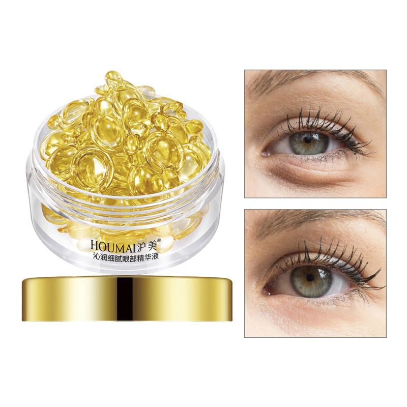 HOUMAI Wrinkles Eye Ampoule Capsule Eye Serum Anti-Aging Fine Lines Dark Circle Eye Patches Eye Cream 30 Grain