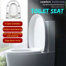 Cover-Set Toilet-Seats-Cover Slow-Close Replacement Square Round 1pcs Antibacterial U-Type