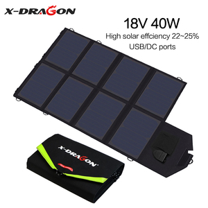 X-DRAGON Solar Panel 40W Solar Battery Charger for iPhone Sumsung Phones Laptops 12V Car Outdoors Battery Hiking