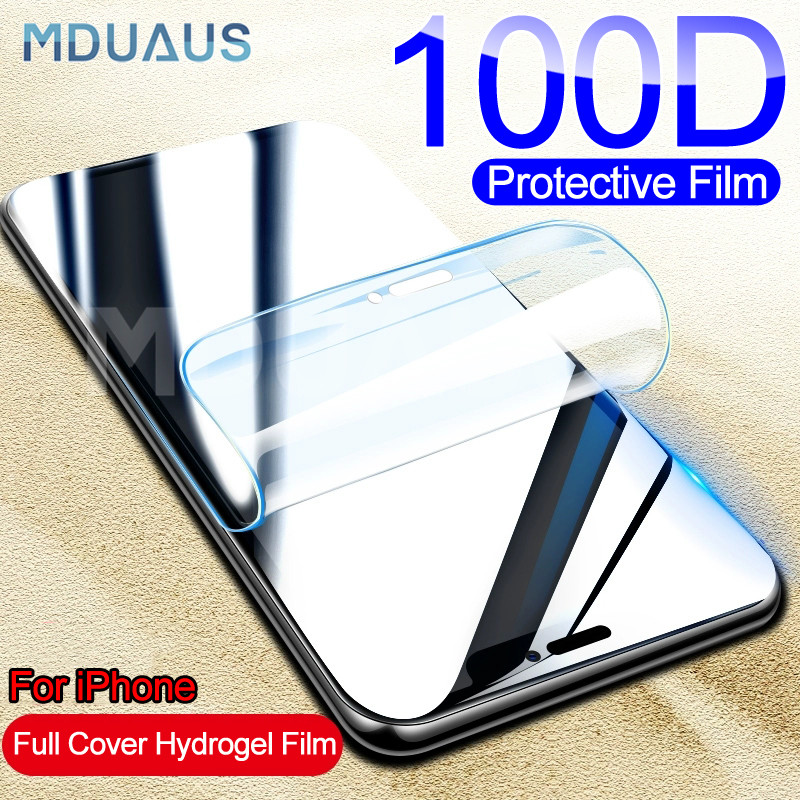 100D Full <font><b>Cover</b></font> Protective Soft Hydrogel Film For <font><b>iPhone</b></font> X XS XR XS 11 Pro Max <font><b>Screen</b></font> Protector For <font><b>iPhone</b></font> 7 <font><b>8</b></font> 6 6s Plus Film image