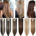 S-noilite 8 шт./компл. 18 зажимов для наращивания волос Синтетические длинные прямые накладные волосы для женщин