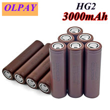 Lot de 10 batteries HG2 18650 3000mAh, 3.6V, rechargeables, originales