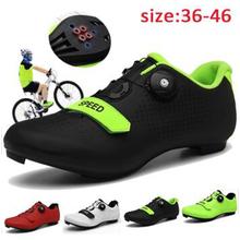 Kolarstwo szosowe buty męskie buty rowerowe buty na rower górski Sapatilha Ciclismo MTB Mountain Cycle Sneaker Triathlon buty wyścigowe tanie tanio pscownlg Skóra Dla dorosłych Oddychające Cotton Fabric Średnie (b m) NYLON Hook loop cycling shoes Pasuje prawda na wymiar weź swój normalny rozmiar