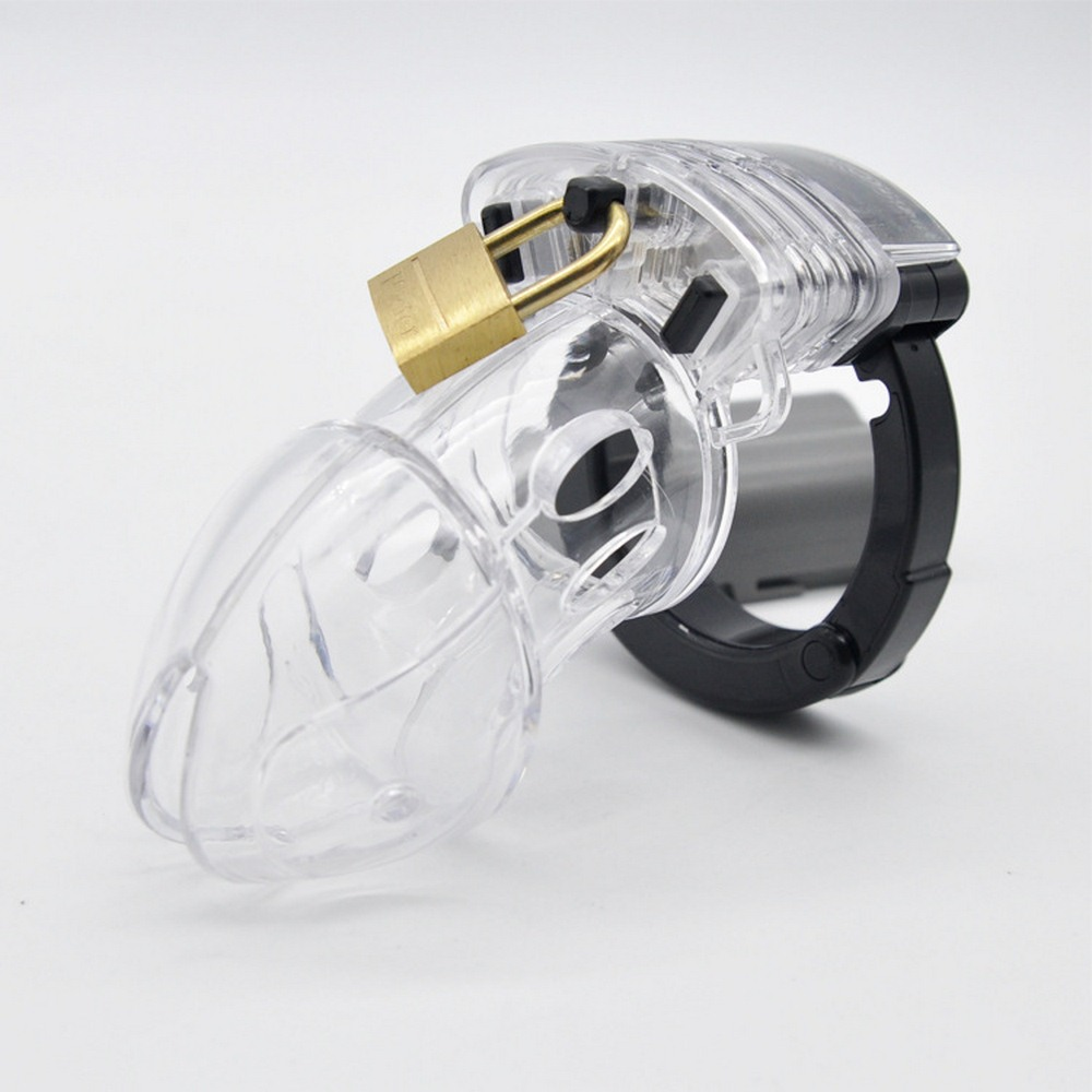Male Chastity Cage Cock Lock Cage Sex Toys for Men Penis Belt Lock with Four Penis