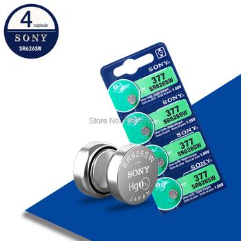4 sztuk partia dla Sony oryginalny 1 55V AG4 377A 377 LR626 SR626SW SR66 LR66 przycisk komórki zegarek monety baterii tlenek srebra wykonane w japonii tanie i dobre opinie JP (pochodzenie) 24mAh 6 8mm 0 27 EE9427 AG4 377 SR626SW Battery toys calculators laser pointers clocks watches computers games