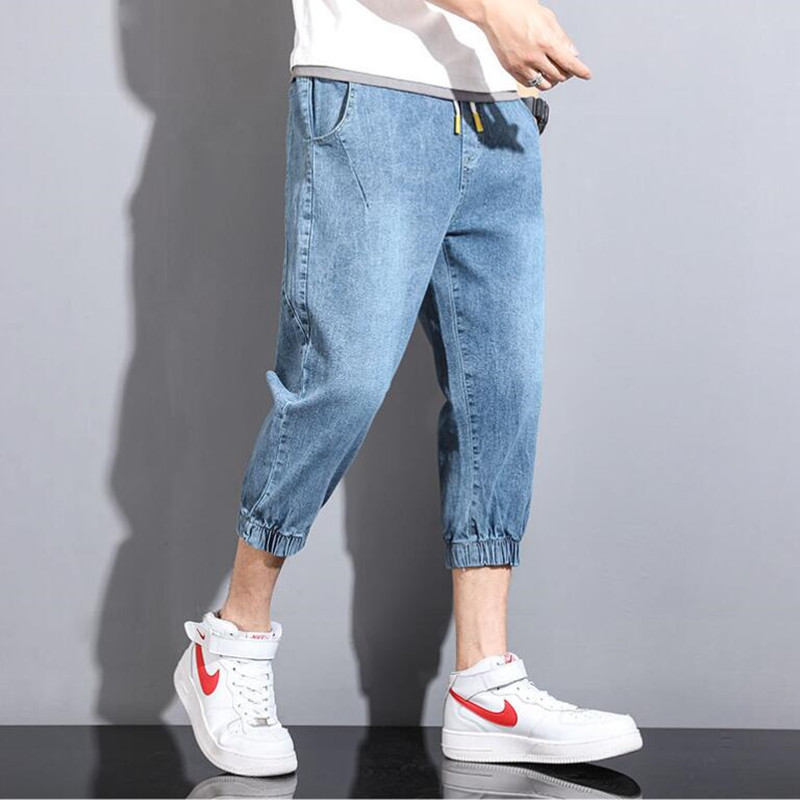 2021 hot style trendy men's jeans men's loose trendy brand harem cropped trousers all-match Korean casual pants Plus size S-5XL