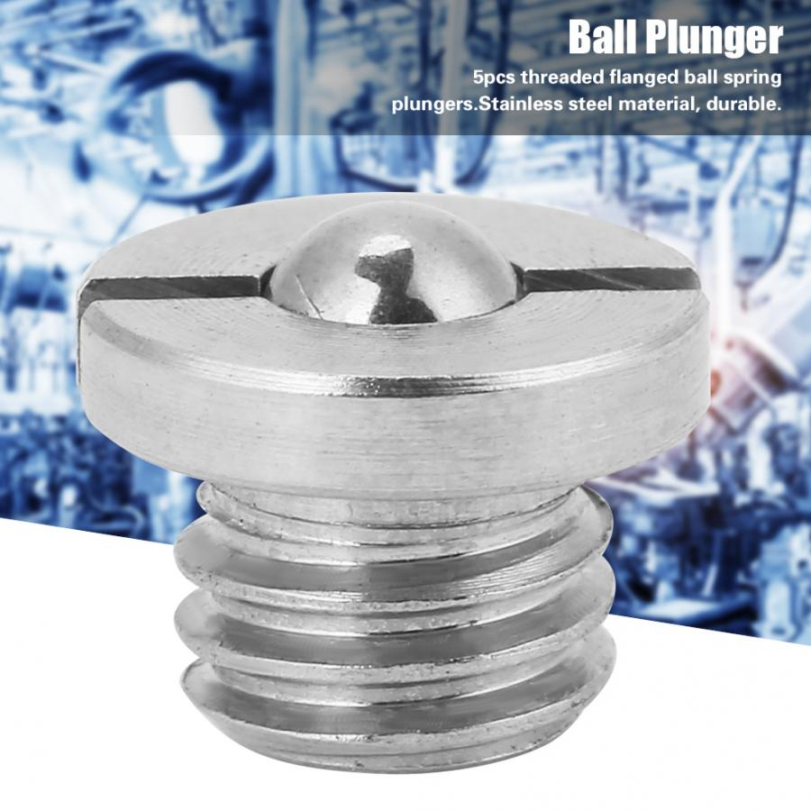 Stainless Steel Bolt 5Pcs Screw Threaded Flanged Ball Spring Plungers Set  bolt