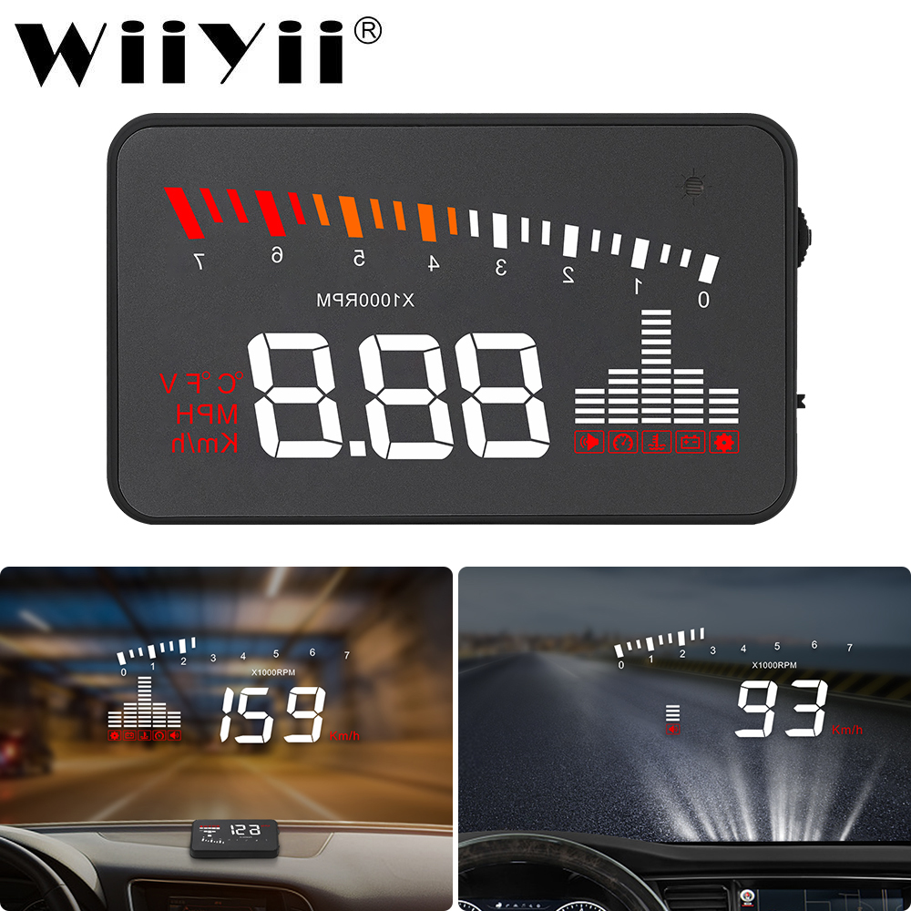 GEYIREN X5 Car HUD OBD II Head-Up Display Overspeed Warning System Projector Windshield Auto Electronic Voltage Alarm