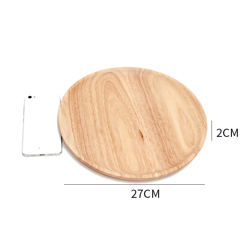 Wooden Round Storage Tray Plate Tea Food Dishe Drink Platter Food Plate Dinner Beef Steak Fruit Snack Tray Home Kitchen Decor - Цвет: 6