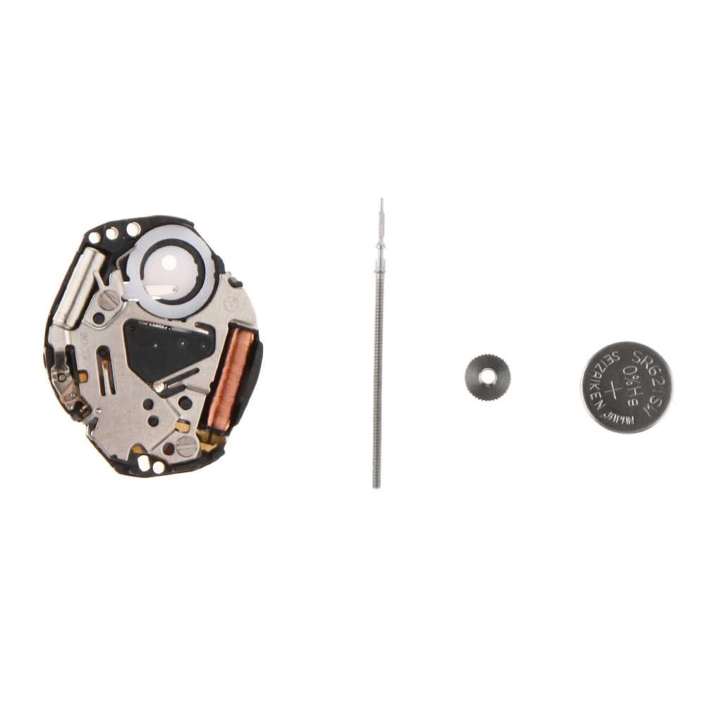 VX51 Kuarsa Watch Gerakan dengan Batang dan Baterai Watch Perbaikan Bagian