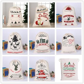 16 nowych stylów worki świętego mikołaja duża jednorożec torba świętego mikołaja torby na prezent dla dzieci boże narodzenie torby bawełniane sznurkiem tanie i dobre opinie Luvy CN (pochodzenie) COTTON Torebki na prezenty i Świeczki Santa Sacks Tak ( 50 sztuk) Personalized Santa Sack 16 Styles can choose