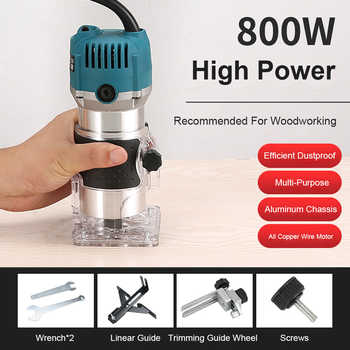 EU UK US Plug 800W Woodworking Electric Trimmer Wood Milling Engraving Slotting Trimming Machine Carving Machine Router Wood - DISCOUNT ITEM  71 OFF Tools