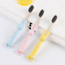 1шт случайный цвет мягкой зубной щеткой для детей чистка зубов мультфильм младенец Eco содружественный стоматологическая помощь зубная щетка