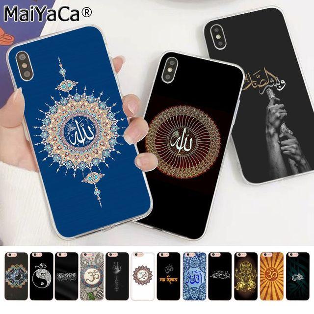 MaiYaCa funda de móvil para Apple, protector de móvil musulmán, islámico, Bismillah, ala, iphone 11 pro, 8, 7, 66S Plus, X, XS, MAX, 5S, SE, XR