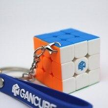 Hızlı kargo GAN 330 anahtarlık küp 3x3x3 bulmaca sihirli küp gan küp GAN 330 mini hız küp 3x3 cubo magico GAN küp oyuncaklar